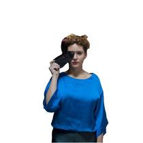 Clippate Top Mujer Sedita Blusa Camisa Azul Envío Gratis