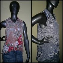 Camisa De Gasa Estampada Sin Mangas - Coleccion Verano 2015