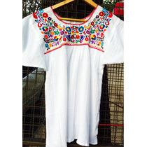 Blusa Bordada 100% Algodón Mexicanas