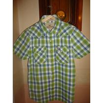 Camisa Hollister S Escocés Cuadros M/corta Nueva Importada