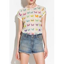 Camisa Blusa Mariposas Moda Oferta Chichón Vestir Importa Ad