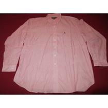 Camisa Polo Ralph Lauren Blake Roja Y Blanca Talle Xl