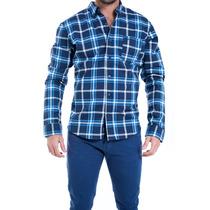 Camisa Manga Larga Rever Pass Cuadros Pima Novo H5f
