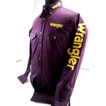 Camisa De Rodeo Wrangler Original Bordada Talle S Y Xl Impor