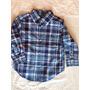 Camisa Escoseza Azul, Talle 2t(2 Años), Polo Ralph Lauren