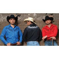 Camisa Vaquera Western Bordada Talle M Importada