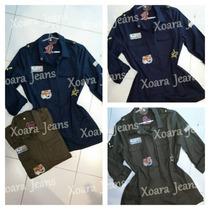 Camisa Larga Gabardina C/ Parches Mujer - Xoara Jeans