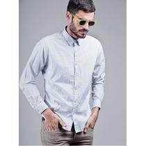 Camisa Etiqueta Negra Hombre Entallada Combinada Original