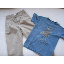 Combo Conjunto Pantalón Gap Y Remera Longboat Key 10 Años