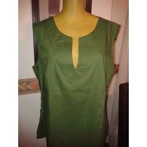 Camisa Sin Mangas Verde Lindo Escote T L Medidas Y Envios