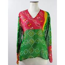 Camisola Made In Nepal-100% Gasa Algodón-hermosos Colores
