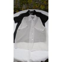 Camisas(2) De Gasa Dama Una Negra Y Una Blanca T.3 Nuevas