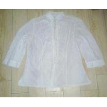 Camisa Mangas Larga Blanca Muy Linda