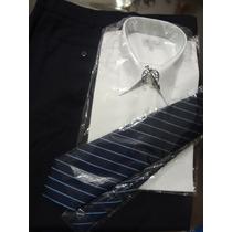 Conjunto Camisa, Pantalon Y Corbata
