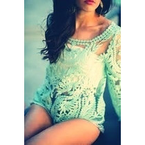 Blusa Importada Encaje Mujer Sexy Noche Fiesta Playa