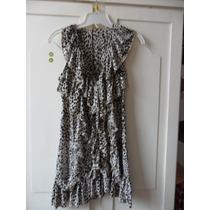 Remera/vestido Con Volados Animal Print
