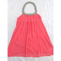 Original Camisola Coral Con Collar Nueva Talle M - L