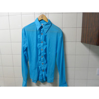 Camisa Hombre Turquesa Shabot Ideal Show