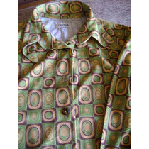 Hermosa Camisa Manga Larga Talle 1 Color Verde Naranja Marro
