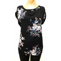 Remera Blusa Estampada Con Flores