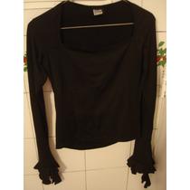 Blusa Negra Original Diseño Tipo Gotico Ver Mangas