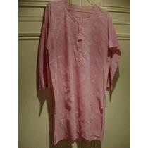 Camisola De Lino Larga - Estilo Hindú - Color Rosa Pálido