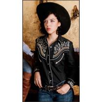 Camisa Country Girl Western Dama Bordada Importada Talle M