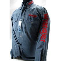 Camisa De Rodeo Wrangler Original Bordada Talle S Importada