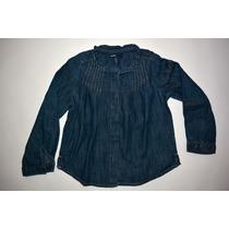 Camisa Jean Oscura Nena - Gap - Talle 3t - Invierno