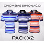 Chombas Hombre Oferta Pack X 2 Tipo Polo