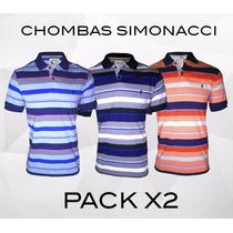 Chombas Hombre Oferta Pack X 2 Tipo Polo