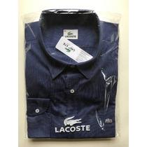 Lacoste Original Camisa Hombre Manga Larga Nautica Nueva