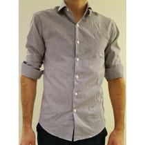 Camisa Rayas (ver Foto En Grande) El Burgués Talle M Slim