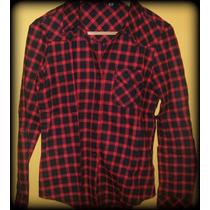 Camisa Escocesa /cuadrille/leñadora/mujer/azul/ Roja/fucsia