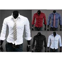 Pack X3 Camisas Entalladas Slim Fit Todos Los Talles !!!