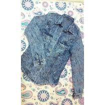 Camisas Se Jeans Elastizadas Nevadas Con Tachas