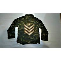 Camisa Nena Militar Camuflada