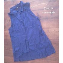 Phenomena Moda Camisa Cuadrille Sin Mangas T. U Mujer