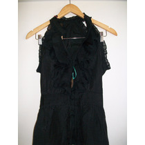 Camisa Blusa Negra Talle M....fina Y Elegante¡¡¡