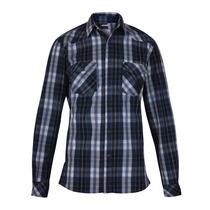 Camisa Wrangler New Western M/l Hombre Azul (05412120733701)