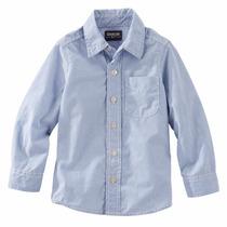 Camisa Mangas Largas Oshkosh Rayada Nene Talle 6,8,10