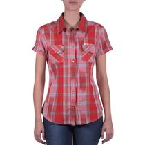 Camisa Lee Selma Western Ykkat Mujer Rojo (10423716315301)