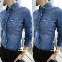 Camisas De Jeans Elastizada