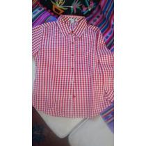 Camisa Cuadrille T 8 Zara Nueva