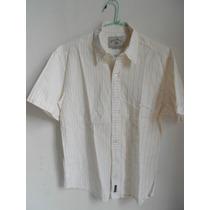 Camisa Hombre Algodon - Narrow Talle Small Mangas Cortas