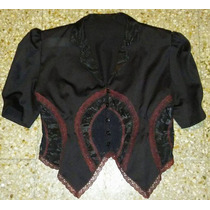 Blusa Lolita,gothic,dark, Seda Encaje Puntilla
