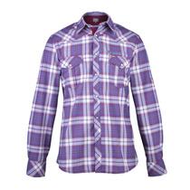 Camisa Wrangler Brandon M/l Hombre Bordo (05431318715801)