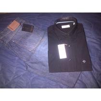 Camisa Corta Negra Christian Dior 100% Algodon