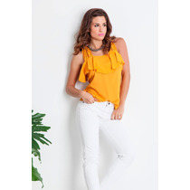Blusa De Gasa Lisa Con Volado Escote, Activity