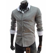 Camisas Hombre Entalladas Slim Fit Importadas Envio Gratis!